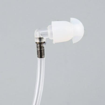 8268 Transparent Air Spring Earpiece PTT Mic Earphone Headset For Motorola - image 4 of 5