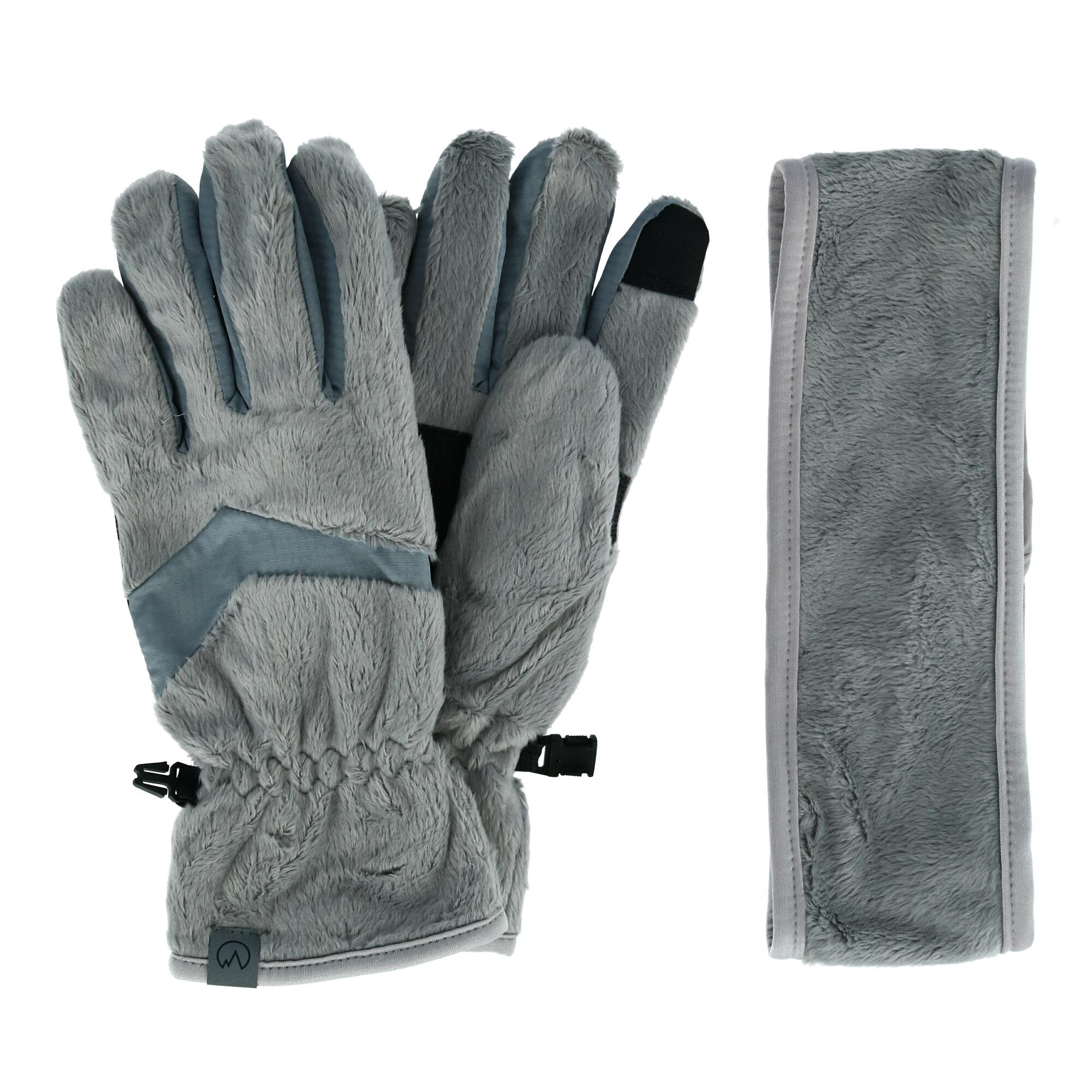 Texting Gloves Tech Gloves Boss Tech BTP-GLV-GRAY Knit Touchscreen Gloves