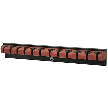 Westward Magnetic Wrench Rack, Aluminum / Plastic, Black and Red, 5NND7 ()