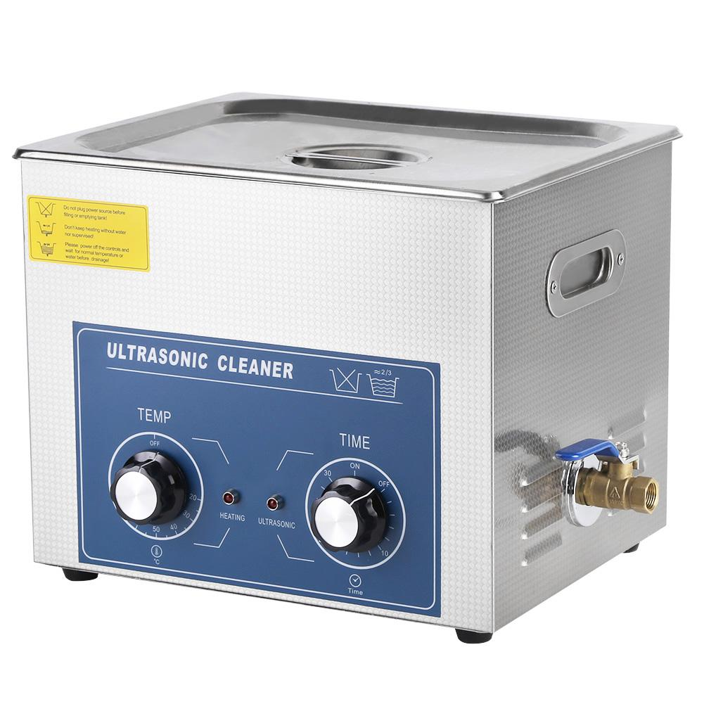 10L Commercial Grade Ultrasonic Cleaner Large Capacity Stainless Steel Clean Bath Tank with Heater and Digital Timer with US Plug 110v