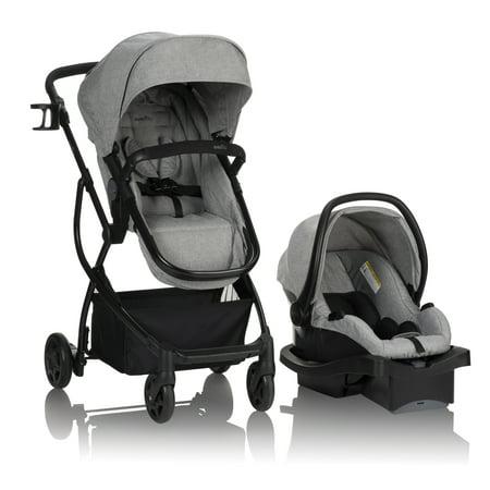 Evenflo Urbini Omni Plus Modular Travel System With LiteMax Rear-Facing Infant Car Seat, Heather Grey