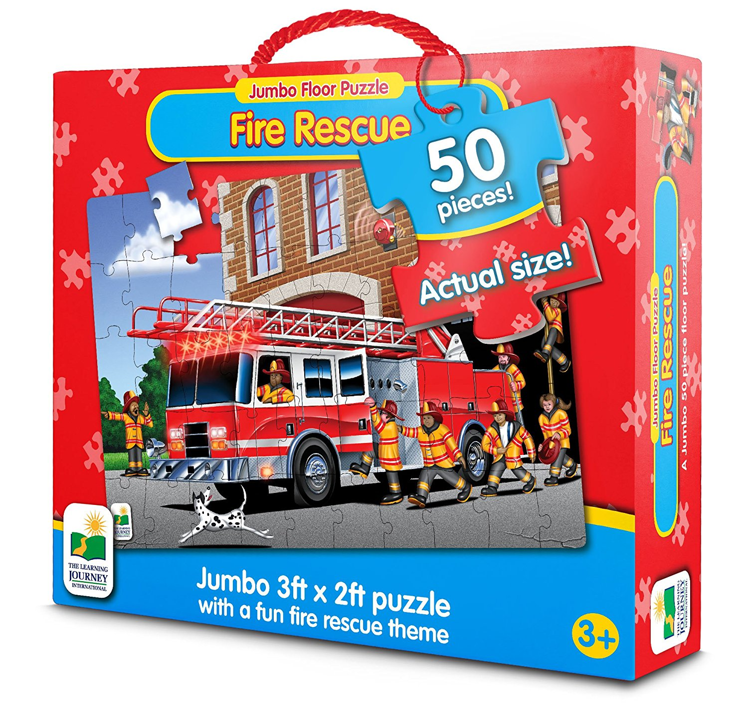 Jumbo Floor Puzzles, Fire Engine Rescue, The Jumbo Puzzle series are large floor puzzles that introduce... by