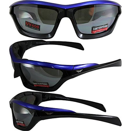 f6526c10c4f Global Vision Fast Track Motorcycle Sunglasses Blue