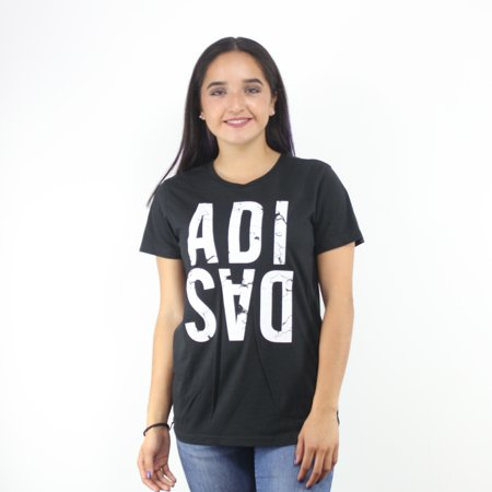 adidas - Adidas Women s Graphic Marble Logo Black T-Shirt White ... 62e14ad07