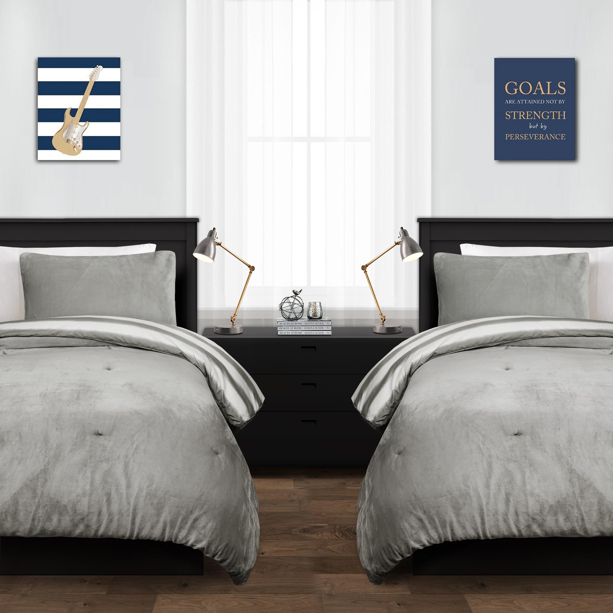 Plush Stripe Comforter Set
