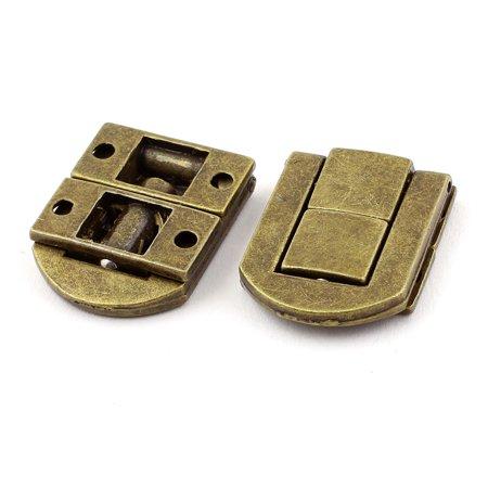78544a6e54 Guitar Case Suitcase Jewelry Box Drawbolt Closure Latch Bronze Tone 2PCS -  Walmart.com