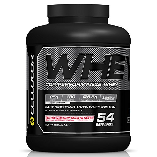 Cellucor Cor-Performance 100% Whey Protein Powder with Whey Isolate, Strawberry Milkshake/G4, 4.04 Pound