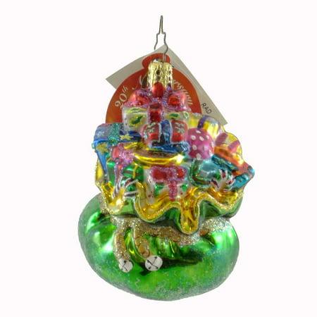 Christopher Radko BULGING BUNDLE GEM Bolwn Glass Ornament Santa (Radko Gem)