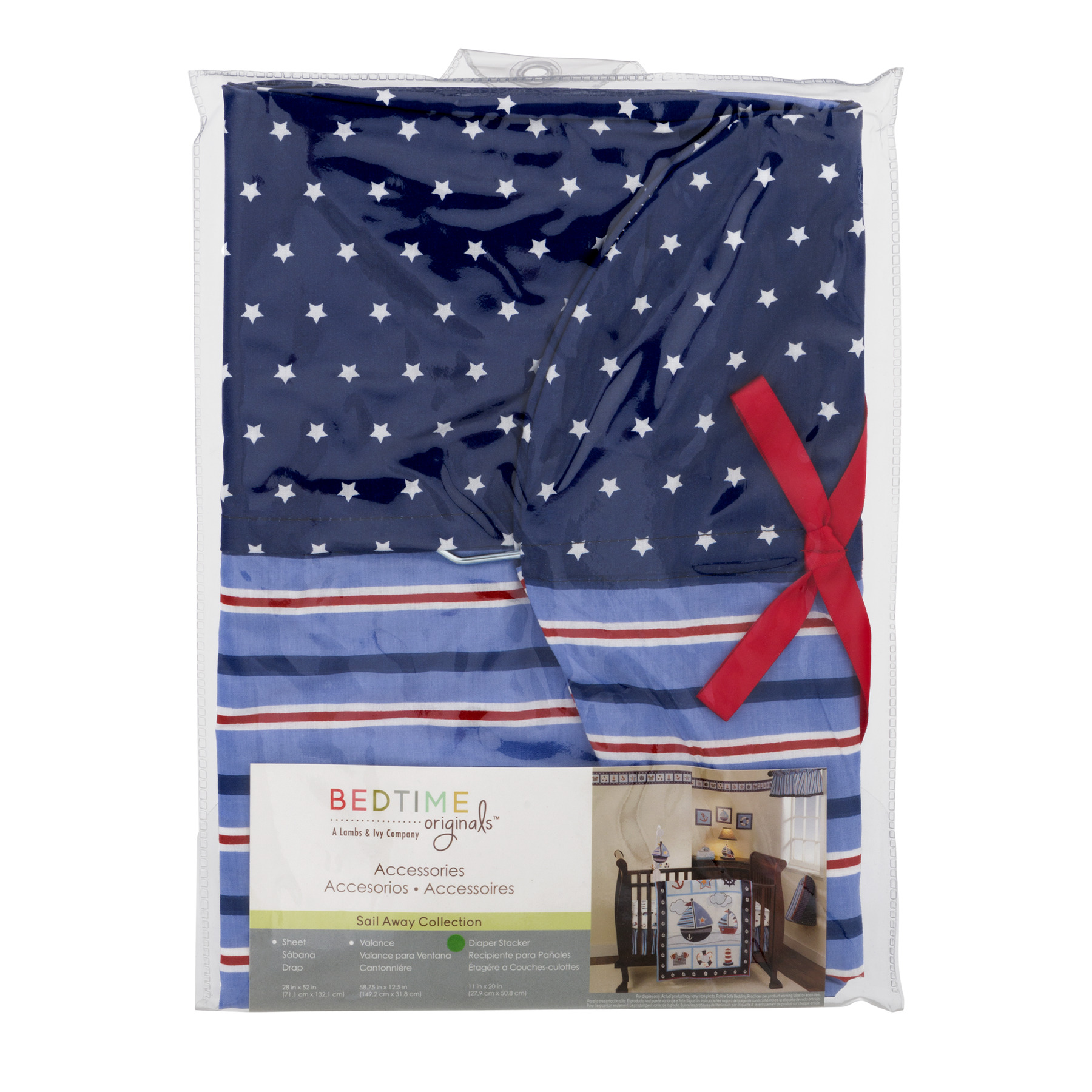 Bedtime Originals Diaper Stacker, Sail Away Collection, 1.0 CT by Lambs %26 Ivy
