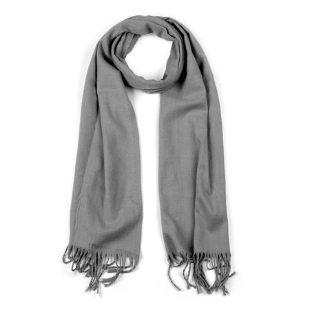Cashmere Soft Shawls with Tassels Scarf in Solid Color for Women