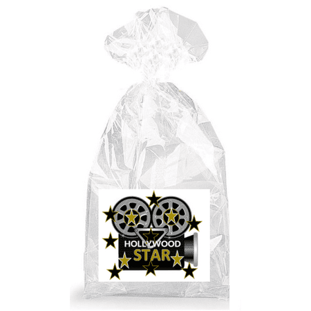 Flashing Camera Hollywood Star  Party Favor Bags with Ties - 12pack - Hollywood Theme Party Favors