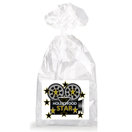 Flashing Camera Hollywood Star  Party Favor Bags with Ties - 12pack - Hollywood Favors