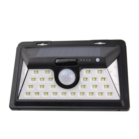 34 LED 6W Solar Powered Energy Wall Lamp PIR Motion Sensor Human Induction Technology Light Control 3 Lighting Modes IP65 Water Resistance SMD2835 2200mAh Rechargeable High Capacity Battery for Backya - image 5 of 7