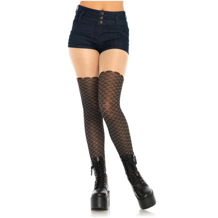 Women's Black Mermaid Tights - image 1 de 1