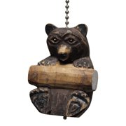 Nature Lover Brown Bear Carved Wood Ceiling Fan Pull