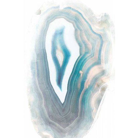 Blue Watercolor Agate Rectangle Stretched Canvas - Susan Bryant (12 x 18)