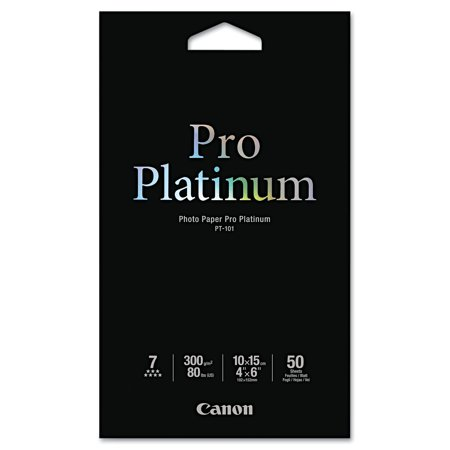 Canon Photo Paper Pro Platinum, High Gloss, 4 x 6, 80 lb., White, 50 Sheets/Pack -