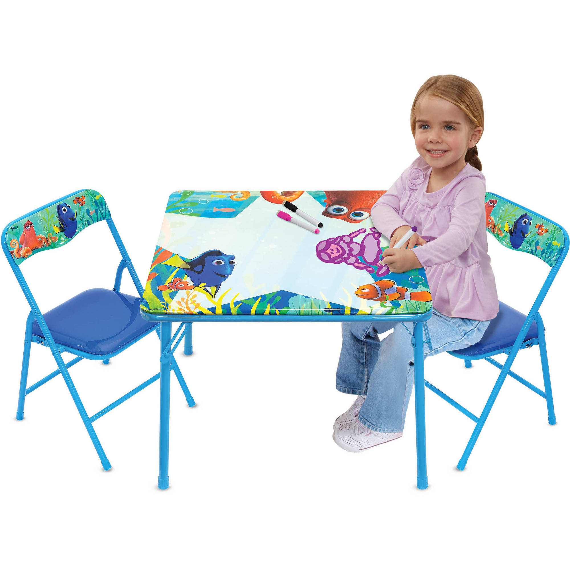 Disney Finding Dory Erasable Activity Table Set with 3 Erasable Markers