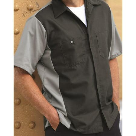 Unisex Short Sleeve Two-Tone Crew Shirt