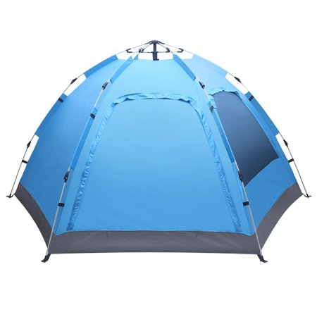 UBesGoo Automatic Tent Outdoor Easy Set Up Waterproof Camping Tent for 3-4 Person ()