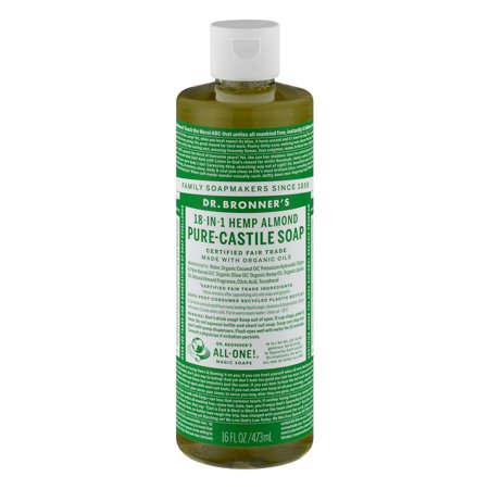 dr bronners magic soap all one csal16 76116 16 oz almond dr bronner 39 s pure castile liquid soaps. Black Bedroom Furniture Sets. Home Design Ideas