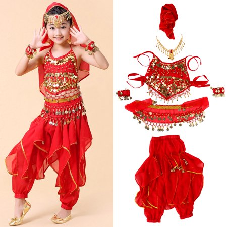 VBESTLIFE 4 Sizes Fashionable Children Kids Girls Belly Dance Costumes Long Pants Trousers Accessories, Dance Costume, Kids Belly Dance Costume - Belly Dance Costume