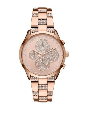 654094061610 Product Image NEW WOMENS (MK6553) SLATER CHRONOGRAPH GLITZ PAVE ROSE GOLD  WATCH. Michael Kors