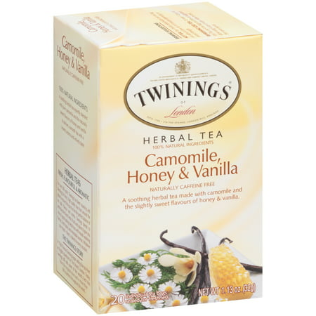 Hot Tea Honey ((6 Boxes) Twinings Of London Camomile, Honey & Vanilla Tea Bags, 20 Ct)