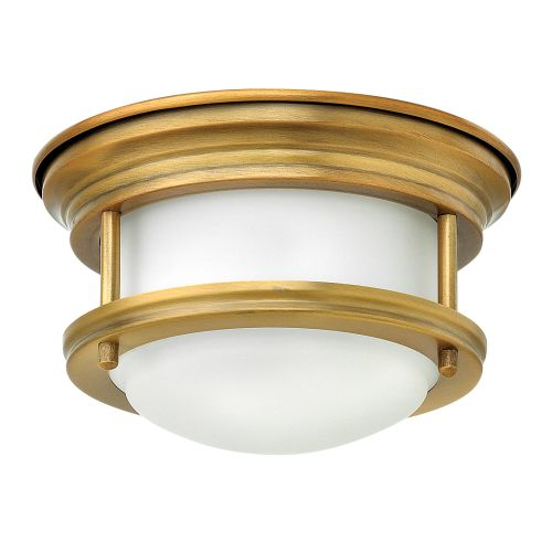Hinkley Lighting 3308 1-Light ADA Compliant LED Flush Mount Ceiling Fixture with Frosted Glass Shade from the Hadley Collection