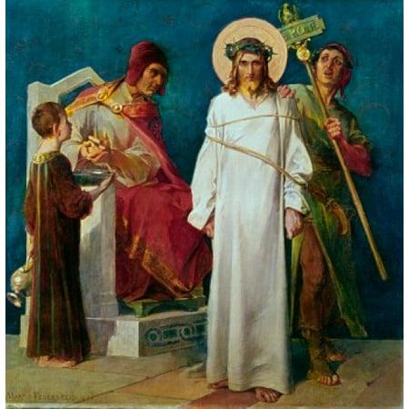 Jesus Condemned to Die 1898 Martin Feuerstein Saint Anna Church Munich Germany Poster Print