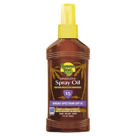 Deep Tanning Dry Oil - Banana Boat Deep Tanning Oil Pump Spray Sunscreen Broad Spectrum SPF 15 - 8 Ounces