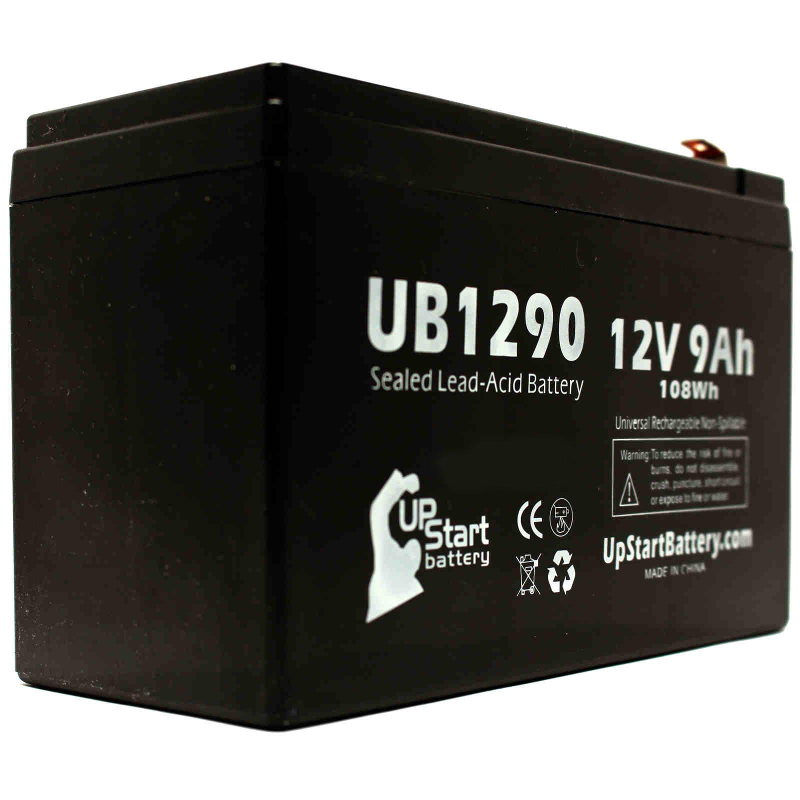 2x Pack - APC BACK-UPS PRO 420VA BP420S Battery Replacement - UB1290 Universal Sealed Lead Acid Battery (12V, 9Ah, 9000mAh, F1 Terminal, AGM, SLA) - Includes 4 F1 to F2 Terminal Adapters - image 3 de 4