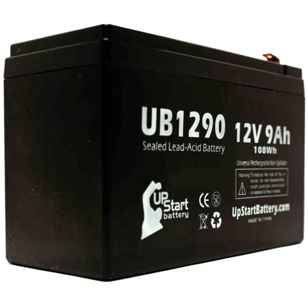 Belkin BU3DC000-12V Battery Replacement - UB1290 Universal Sealed Lead Acid Battery (12V, 9Ah, 9000mAh, F1 Terminal, AGM, SLA) - Includes TWO F1 to F2 Terminal Adapters - image 3 of 4