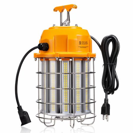 LEONLITE 150W High Bay LED Temporary Work Light Fixture, 1300W Equivalent, 19,500 Lumens Ultra Bright, Connectable, 5000K Daylight