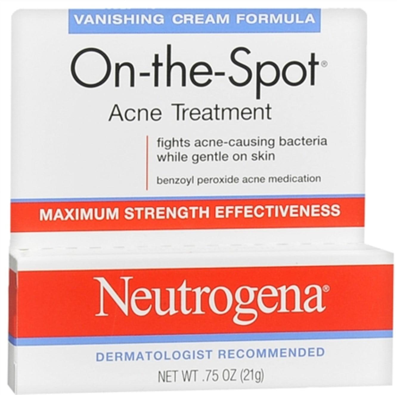 Neutrogena On-The-Spot Acne Treatment Vanishing Cream Formula 0.75 oz (Pack of 6)