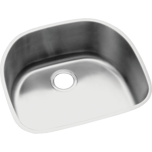 Elkay ELUH211810DBG Harmony Lustertone Stainless Steel Single Bowl Undermount Sink Kit
