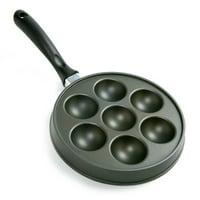 Ebelskiver Pan, Danish Aebleskiver Stuffed Pancake Pan, Aebleskivers, Black