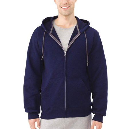 Fruit of the Loom Men's Dual Defense EverSoft Fleece Full Zip Hooded Sweatshirt