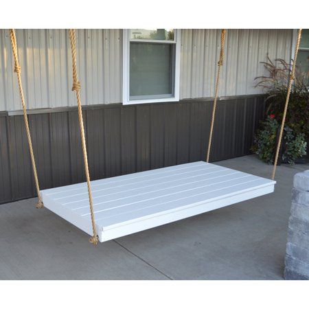 A & L Furniture Yellow Pine Newport 75 x 38 in. Backless Swing Bed with Rope Included ()