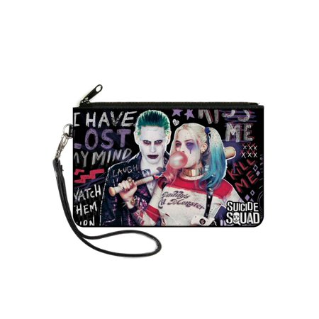 DC Comics Suicide Squad Canvas Zipper Wallet Large Joker & Harley Quinn