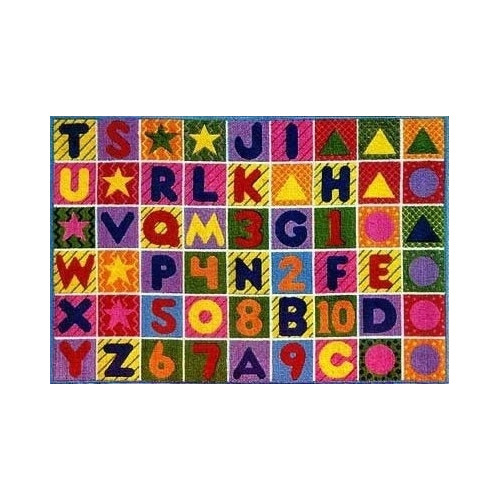 Fun Rugs Supreme Numbers and Alphabet Area Rug