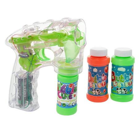 Flashing Bubble Gun (Bubble Gun Shooter Toy LED Flashing Light Up Toys For Kids Bubble Machine)