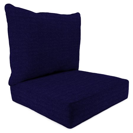 Mainstays Solid Navy Outdoor Deep Seating Cushion Set