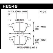 Hawk 07-08 Mazdaspeed3/06-07 Mazdaspeed6 HPS Street Front Brake Pads