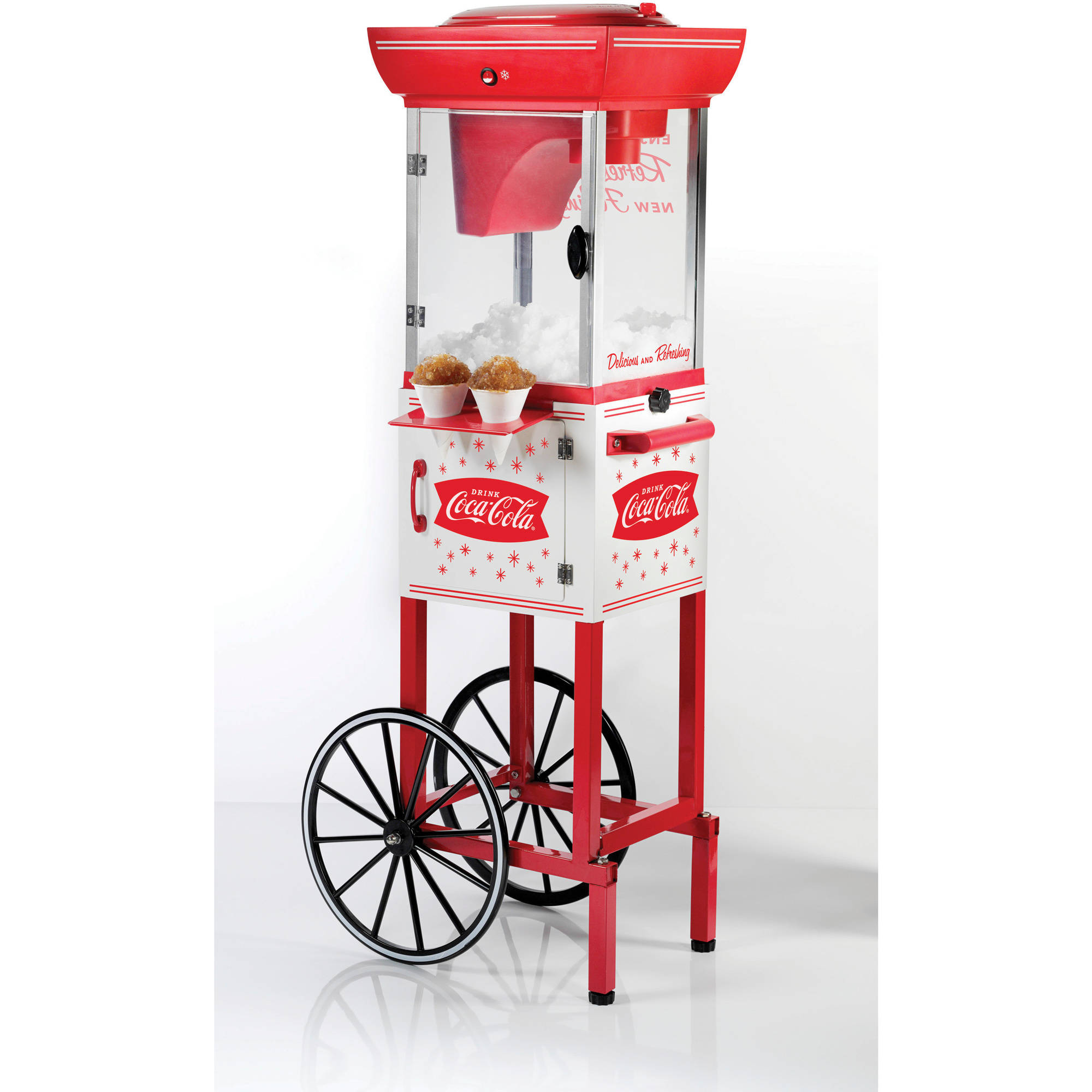 Nostalgia SCC399COKE 4' Tall Coca-Cola Snow Cone Cart