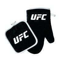 UFC OVEN MITT/POT HOLDER LOGO BLACK