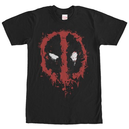 - Marvel Men's Deadpool Splatter Icon T-Shirt