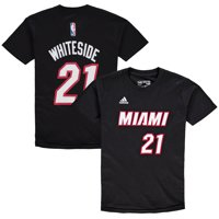 Hassan Whiteside Miami Heat Youth Game Time Flat Name & Number T-Shirt - Black