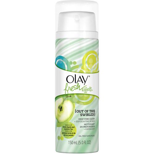 Olay Fresh Effects Out of This Swirled! Deep Pore Clean Plus Exfoliating Scrub, Green Apple and Jasmine Tea, 5 fl oz