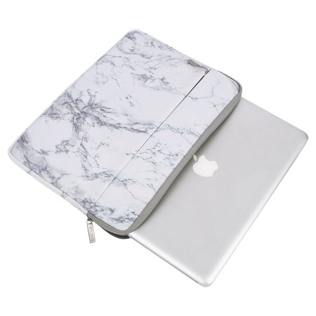 Mosiso Laptop Sleeve Bag 15-15.6 Inch MacBook Pro Ultrabook Notebook Computer Canvas Marble Pattern Protective Tablet Carrying Case Cover Cargo Laptop Sleeve Case